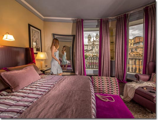 The View At The Spanish Step small luxury hotel a roma